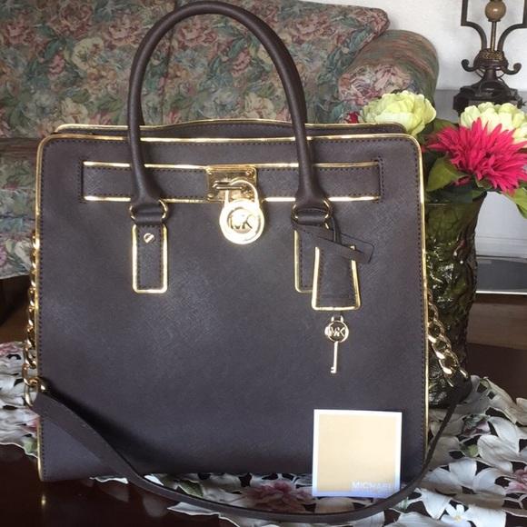 5244b4931f71 Michael Kors Hamilton NS North South Large satchel.  M_5bdb8cfa34a4ef62d85b80da